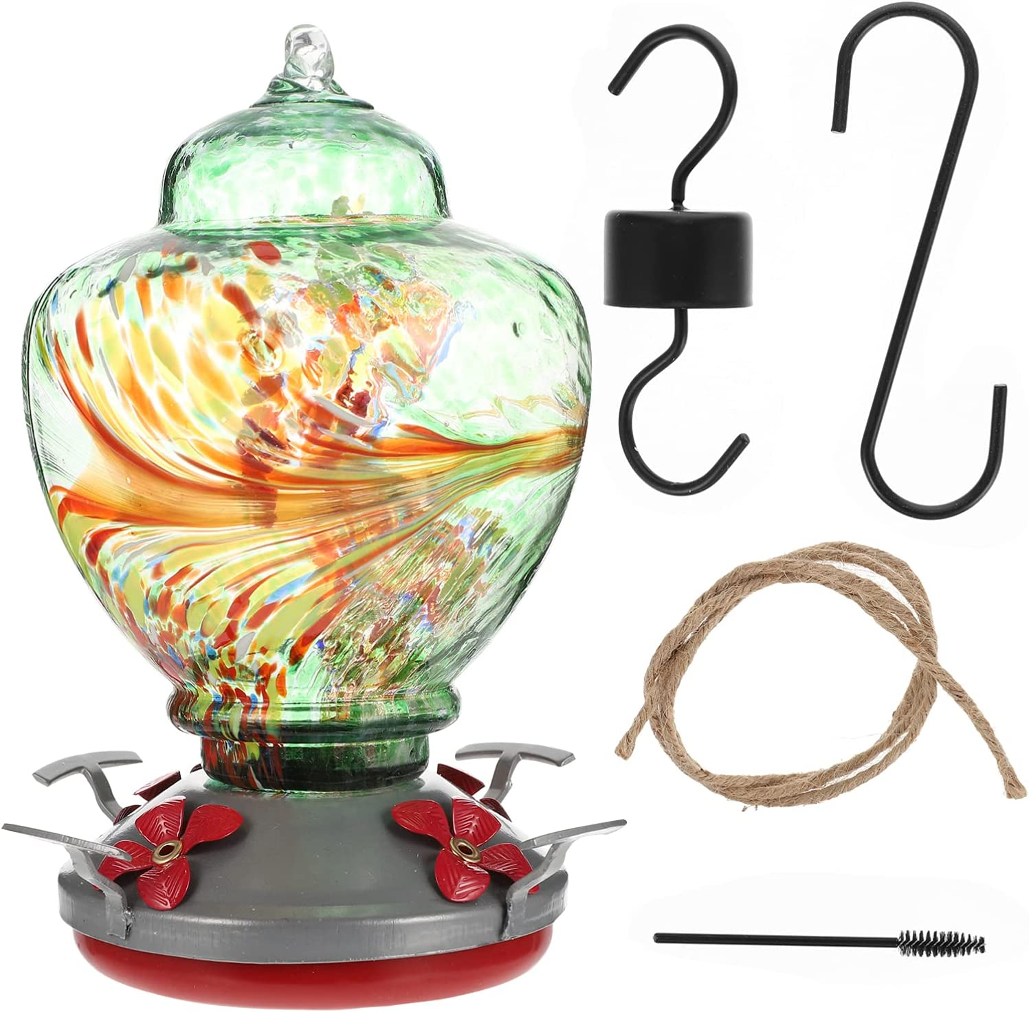 Hemoton 1 Set Glass Hummingbird Outdoor Wild Feeders Super sale period limited Hanging Ranking TOP12 Bir