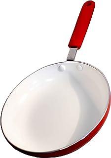 Mayestic Sartén de cerámica y Aluminio, 18 cm, Rojo