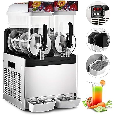 VEVOR Slush Machine Smoothie Maker Sorbetière Electrique pour Distribuer les Boissons telles que des Boissons Granites, des Cocktails Surgelés, des Jus de Fruits, des Smoothies