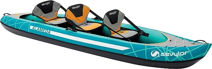 Kayak gonfiabile alameda, mare 3 posti, canoa, 375 x 93 cm sevylor 2000026700