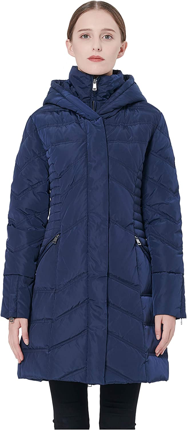 goldlay Women's Thickened Coat Puffer Down Jacket