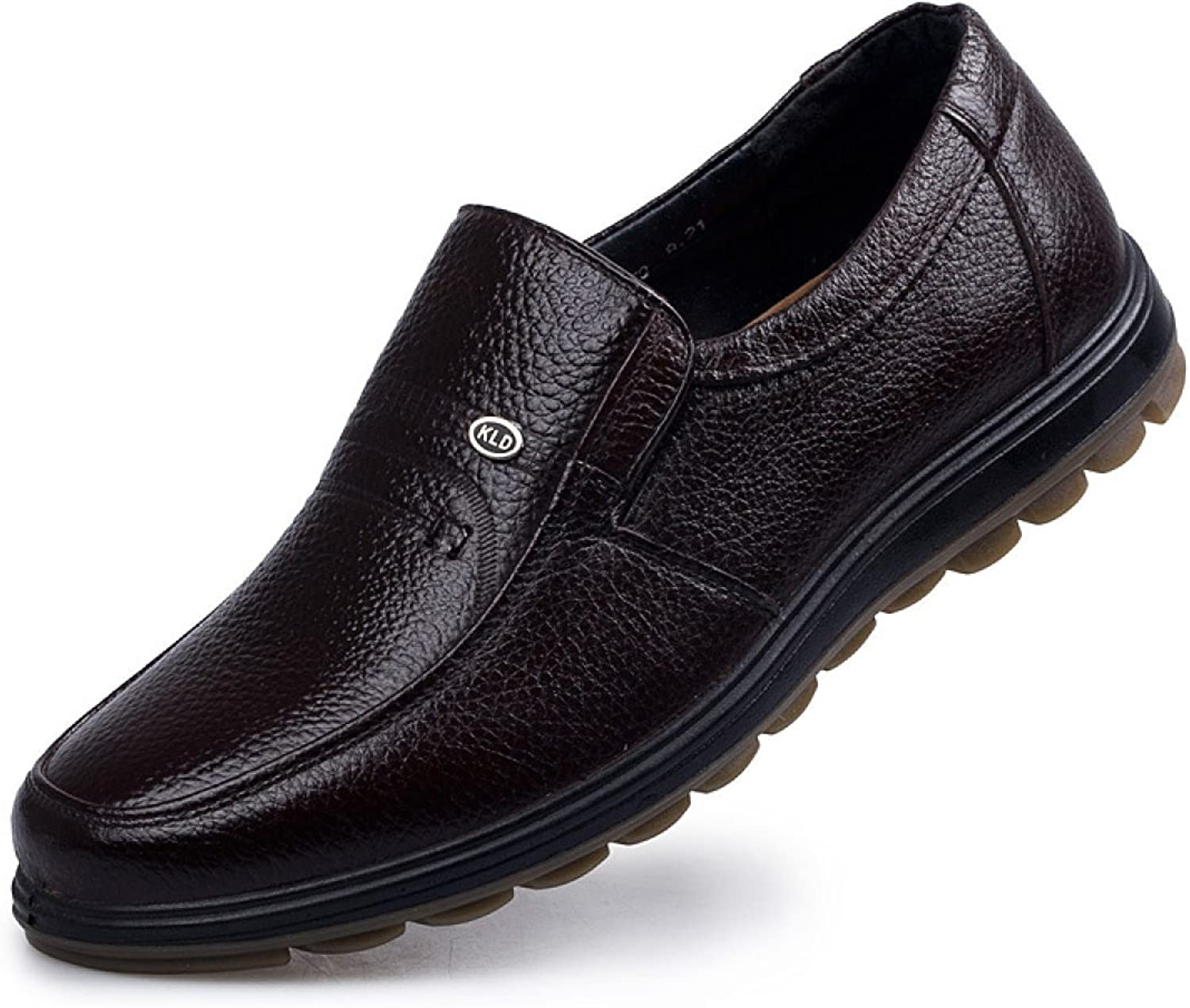 Classic Dad shoes Leather Business Casual Men's shoes Men's Leather shoes Middle-aged Fashion Men's shoes