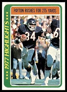 Football NFL 1978 Topps #3 Walter Payton HL NM Bears