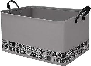 "NINIPANDA&LEE Large Rectangle Storage Baskets,Blanket Basket, Storage Bins 22""x 15"" x 13"". Woven Fabric Laundry Basket.Bas..."