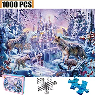 Jigsaw Puzzles 1000 Pieces Artwork Art for Adult Grown Up Puzzles Large Size Toy Educational Games Gift Jigsaw Puzzle Jigsaw Puzzle 1000 PCS Intellectual Inspiration (Snowland Wolf World)