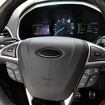 2 PCS Black F150 Steering Wheel Emblem Badge Overlay Decal Sticker ...