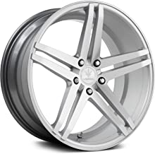 Verde Custom Wheels Parallax Matte Silver/Machined Wheel with Painted Finish (20 x 11. inches /5 x 112 mm, 30 mm Offset)
