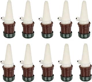 ICEBLUEOR - Juego de 10 Herramientas de riego automático para Sistema de Goteo de Interior para Plantas, sondas de cerámica, Pinchos para Plantas de hogar, autorriego, Color Blanco y Negro