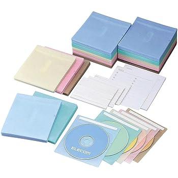 【2006年モデル】ELECOM 不織布CD・DVDケース(両面収納) 300枚入り 5色パック CCD-016XL5C