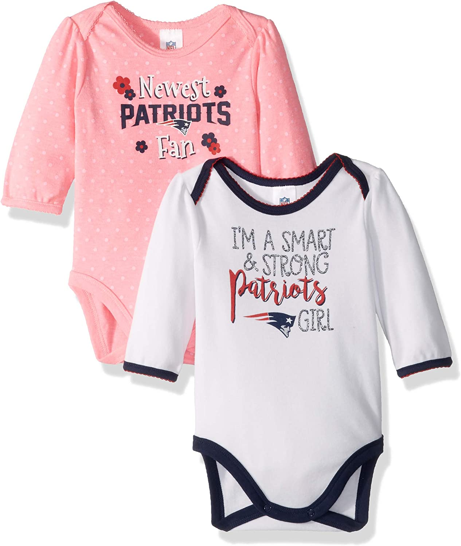 NFL Girls 2 Pack Long Sleeve Bodysuit