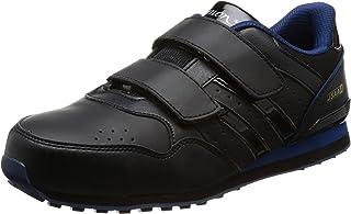 [シモン] プロスニーカー 短靴 JSAA規格 軽快 耐滑 スニーカー マジック NS818黒/ブルー
