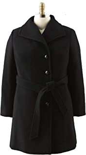 Convington Women's Winter Black Wool Blend Long Coat...