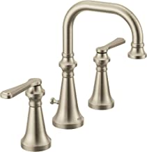 Moen TS44102BN Colinet Traditional Two Widespread High-Arc Bathroom Faucet with Lever Handles, Valve Required, Brushed Nickel