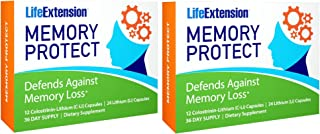 Life Extension Memory Protect Powerful Dual-Action Cognition & Memory Support 12 Colostrinin-Lithium (C-Li) Capsules | 24 ...