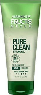 Garnier Fructis Style Pure Clean Styling Gel, All Hair Types, 6.8 oz. (Packaging May Vary)