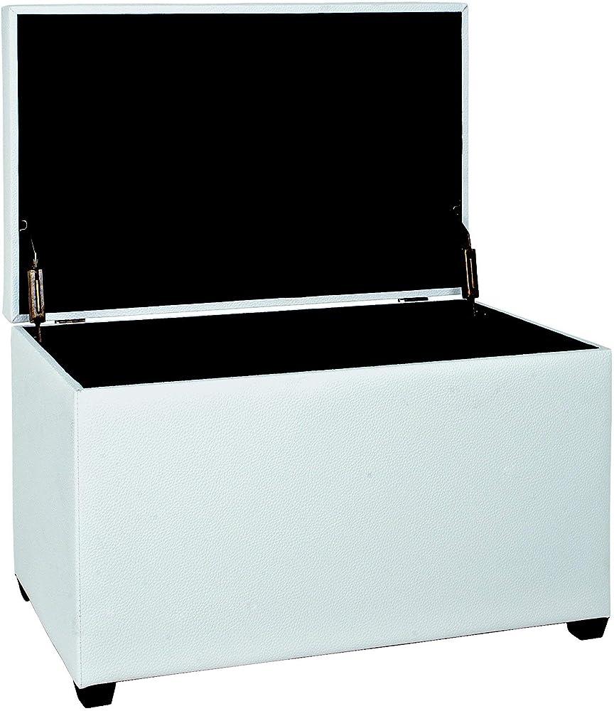 Haku möbel,panca/ baule, bianco,in mdf / ecopelle colore: bianco dimensioni: 40 x 65 x 42 cm 30386