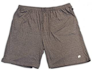 Russell Athletic Big and Tall Jersey Knit Gym Short (Charcoal Grey 1X)