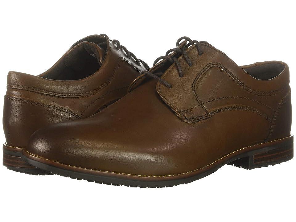 Rockport Dustyn Waterproof Plain Toe (New Caramel) Men