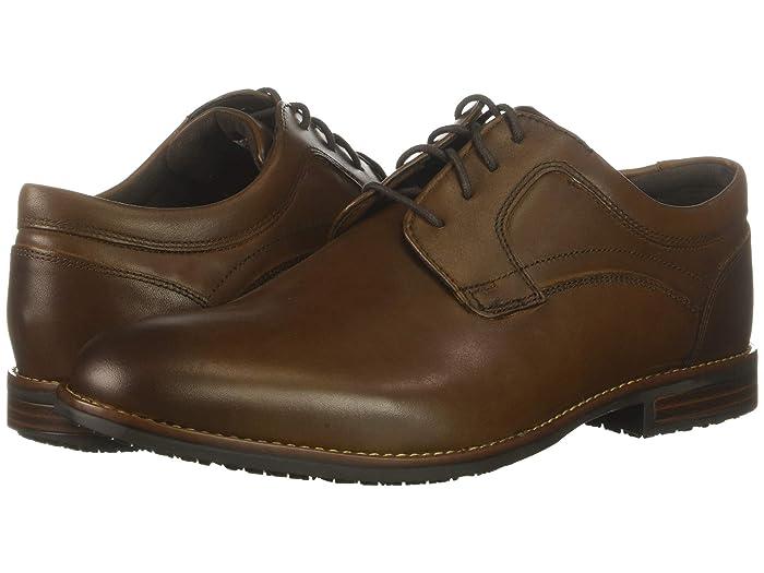 Rockport  Dustyn Waterproof Plain Toe (New Caramel) Mens Shoes