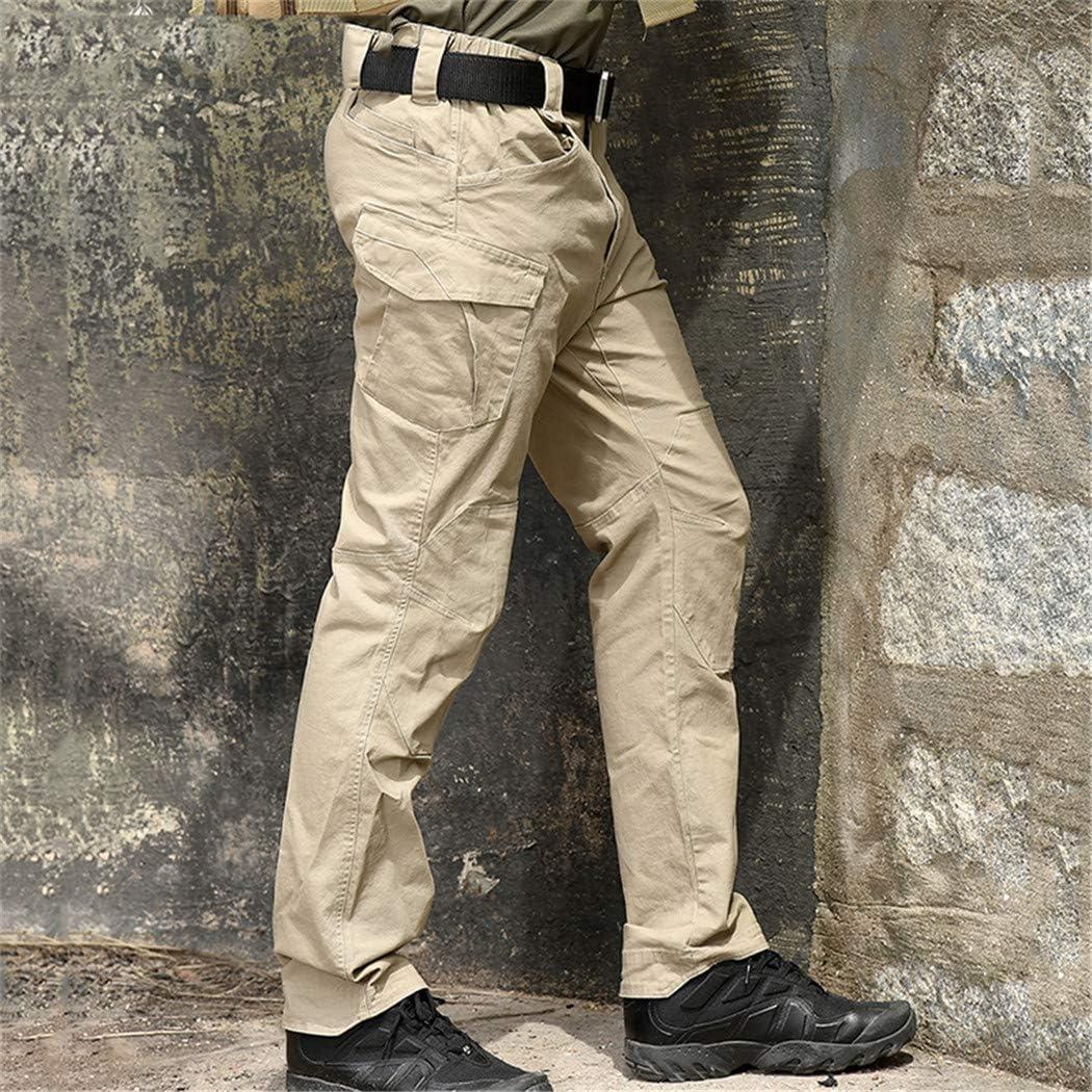 Combat Militaire Tactique Pantalon Hommes Grand Multi Poche armée Cargo Pantalon décontracté Coton sécurité Garde du Corps Pantalon Gray