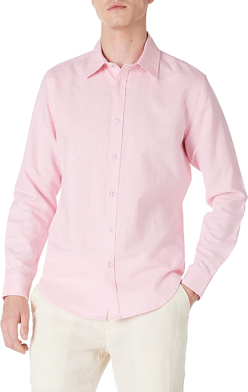 Isle Bay Linens Direct sale of manufacturer Directly managed store Men's Standard-Fit Casual Long Sleeve Shirt