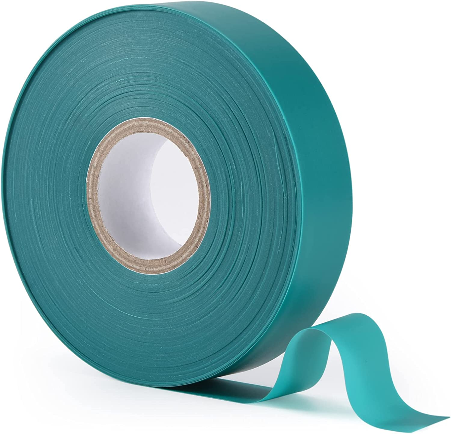 """TELENT OUTDOORS Stretch Tie Tape, 1"""" Wide 200FT Reusable Garden Plant Ties Green Tapes for Plants, Thick Garden Vinyl Stake Ribbon for Branches Flowers Tomatoes Indoor Outdoor Greenhouse"""