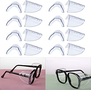 Hub's Gadget 8 Pairs Safety Eye Glasses Side Shields, Slip On Clear Side Shield for Safety Glasses- Fits Small to Medium Eyeglasses