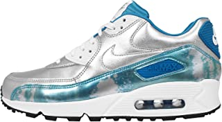 Womens Air Max 90 PRM QS Leather Metallic Athletic Shoes
