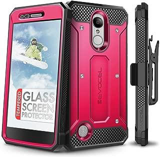 LG Aristo Case, Evocel [Explorer Series] Premium Full Body Case with Rugged Belt Clip Holster for LG Aristo/LG K4 (2017) / LG Rebel 2 / LG Fortune/LG Phoenix 3 / LG K8 (2017), Pink