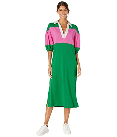 Kate Spade New York Stripe Polo Knit Dress (Desert Palm) Women