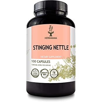 Stinging Nettle Root 100 Capsules 1200 mg | Filled with Organic Stinging Nettle Root | Supports Detoxification | Blood Pressure Support | Non-GMO