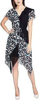 RACHEL Rachel Roy Womens Printed A-Line Cocktail Dress Black XL