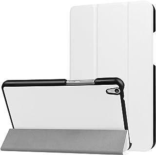 Huawei Mediapad T2 8.0 pro ケース Huawei Mediapad T2 8.0 pro カバー スタンド機能付き 保護ケース 強力な磁石 薄型 超軽量 全面保護型Huawei Mediapad T2 8.0 pro スマートタブレット ケース カバー 軽量 薄型 レザー 三つ折スタンド オートスリープ機能 TRkin (ホワイト)
