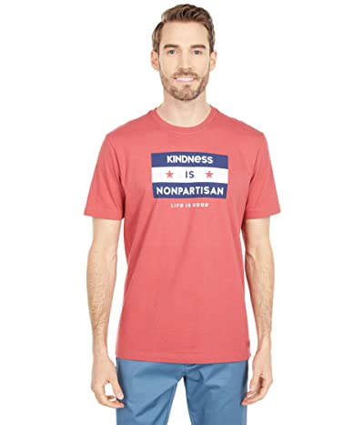 Life is Good Kindness Is Nonpartisan Crushertm Tee (Faded Red) Men