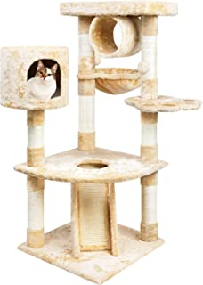 TOYSBOOM Cat Tree with Scratching Post Hammock - Cat Tower Multi-Level for Indoor Cats 47 inch