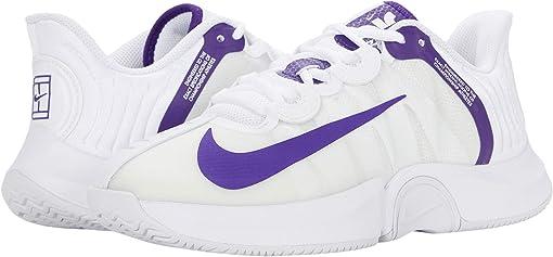 White/Court Purple/Geyser Grey