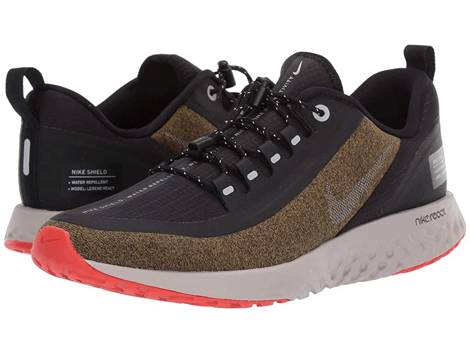 Nike Kids Legend React Shield (Big Kid) (Olive Flak/Metallic Silver/Black) Boys Shoes