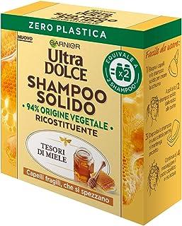 Garnier Shampoo Solido Ultra Dolce Tesori di Miele per Capelli Fragili che si Spezzano, Confezione 100% Ecologica senza Pl...