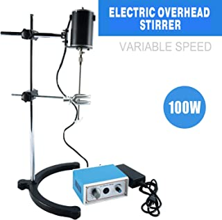 YaeCCC Electric Overhead Stirrer Mixer Blender Lab Mechanical Mixer 100W Variable Speed 0-120 Minute 0-3000 RPM for Lab Mechanical Mixer