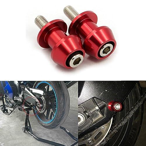 ViZe Diábolos Moto Tornillo Apoyo de la Motocicleta para Street Bikes Sport Bikes (Rojo,