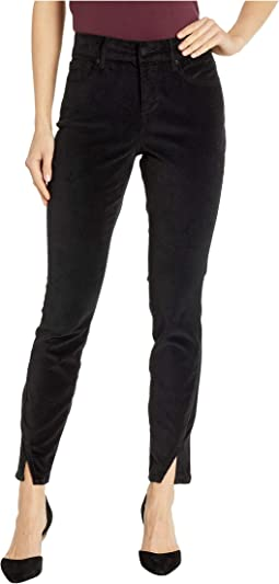 Ami Skinny w/ Twisted Side Seam Slits in Black