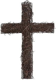 grapevine cross for cemetery