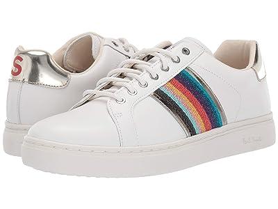 Paul Smith Lapin Sneaker (White Multistirpe Webbing) Women