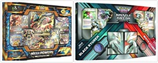 Pokemon Mega Powers Collection Box Card Game and Black Kyurem White Kyurem Battle Arena Decks Bundle, 1 of Each