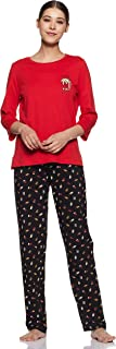 Amazon Brand - Eden & Ivy Women's T-Shirt & Pyjama Set Loose Fit Pyjama Set