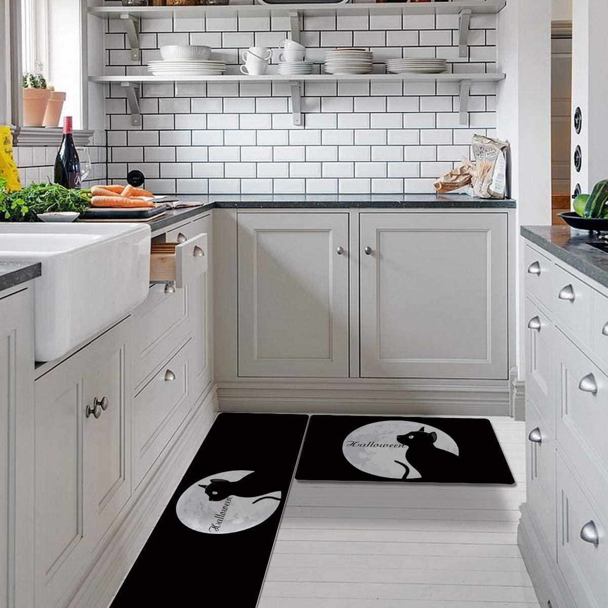 Halloween 2 Pieces No-Slip Area Rugs Kitchen Office Do Ranking TOP4 for famous Front
