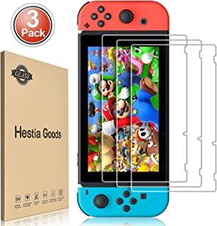[3 Pack] Nintendo Switch Screen Protector Tempered Glass - Hestia Goods Transparent HD Clear Anti-Scratch Screen Protector...
