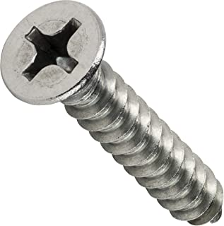 Small Parts FSC08350PFMSS Flat Head Screws for Metal Number 8 Size Phillips 3-1//2 Long 18-8 Stainless Steel Pack of 50 Sheet Metal