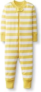 Hanna Andersson Baby/Toddler One-Piece Organic Cotton Footless Pajama Swedish Yellow/Hanna White -70