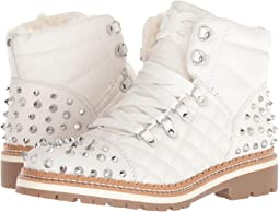 Bright White Leather Nappa Verona Leather/High Shine Nylon